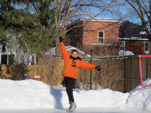 Skating on a sunny March day!